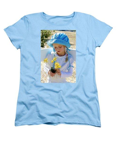Little Girl Blue  Women's T-Shirt (Standard Cut) by Suzanne Oesterling