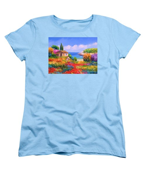 Little House By The Sea Women's T-Shirt (Standard Cut)