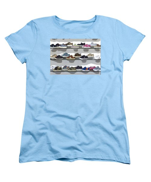 Little Sneakers Women's T-Shirt (Standard Cut) by Keith Armstrong