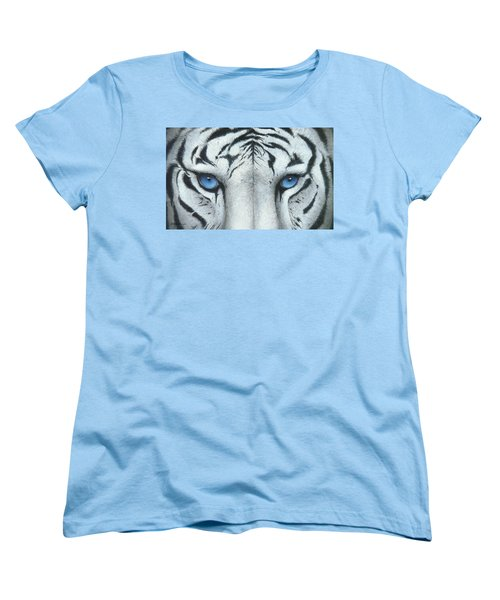 Women's T-Shirt (Standard Cut) featuring the painting Locked In by Mike Brown