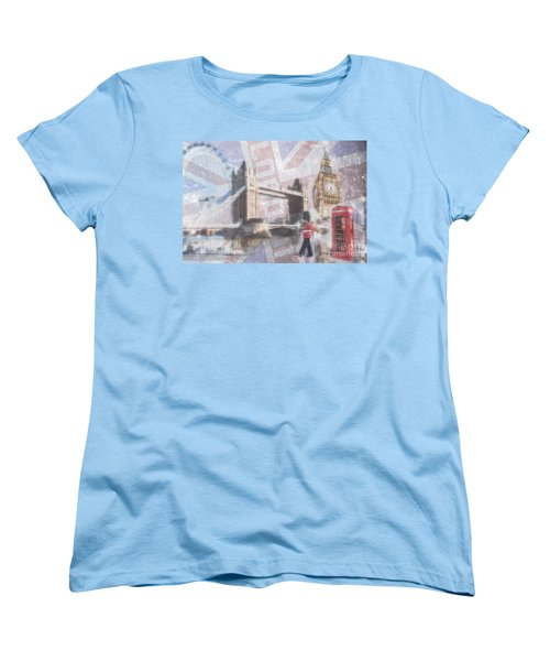 London Blue Women's T-Shirt (Standard Cut) by Hannes Cmarits