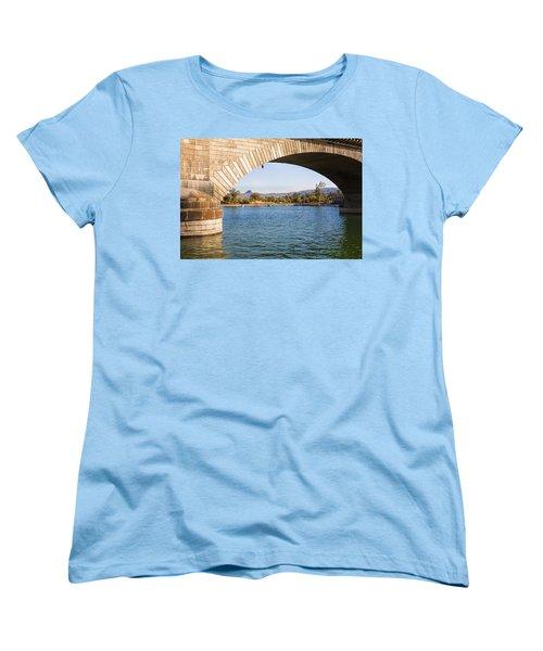 London Bridge At Lake Havasu City Women's T-Shirt (Standard Cut) by Fred Larson