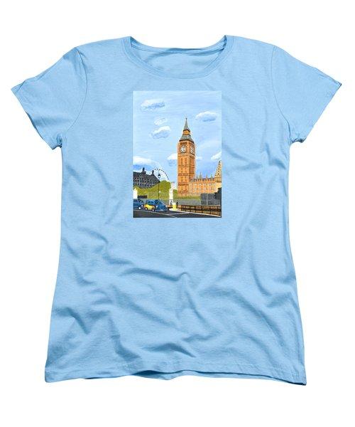 London England Big Ben  Women's T-Shirt (Standard Cut) by Magdalena Frohnsdorff