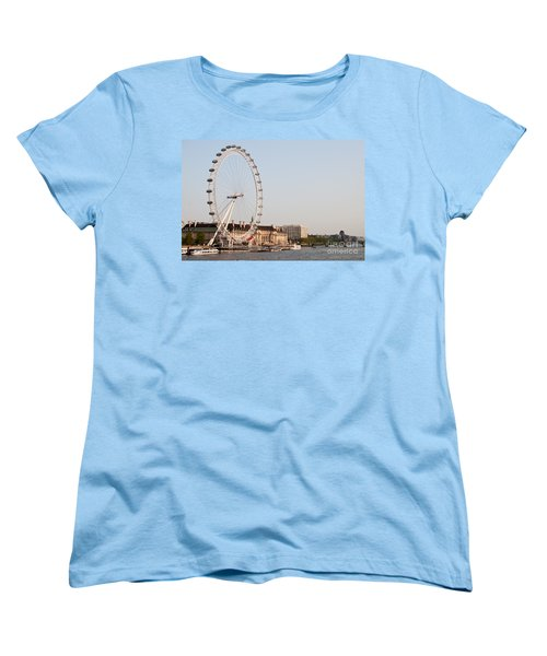Women's T-Shirt (Standard Cut) featuring the photograph London Eye Day by Matt Malloy