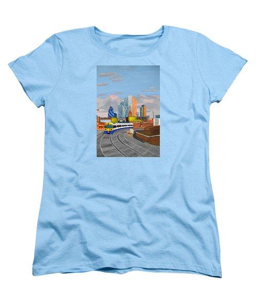 London Overland Train-hoxton Station Women's T-Shirt (Standard Cut) by Magdalena Frohnsdorff