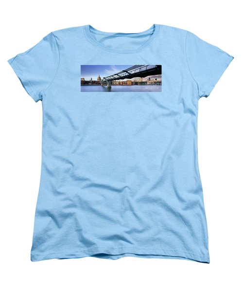 Millennium Bridge London 1 Women's T-Shirt (Standard Cut) by Rod McLean