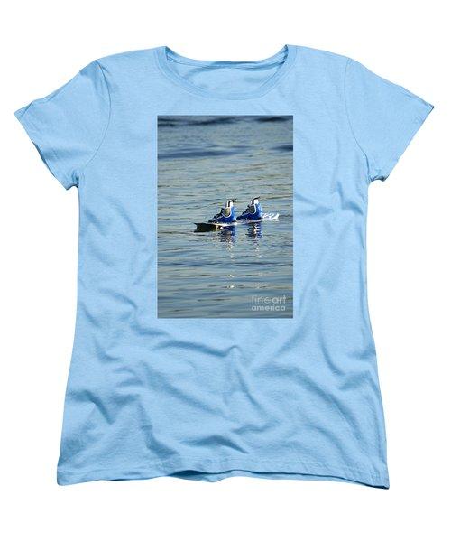 Lone Wakeboard Women's T-Shirt (Standard Cut) by DejaVu Designs