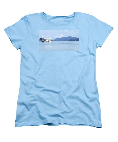 Women's T-Shirt (Standard Cut) featuring the photograph Lonely Boat by Andrea Anderegg