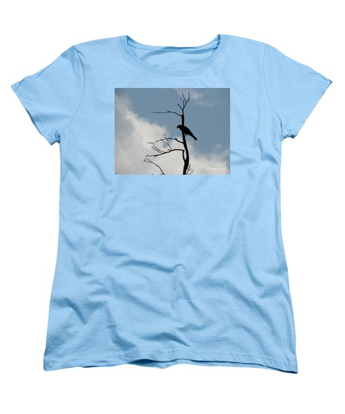 Women's T-Shirt (Standard Cut) featuring the photograph Looking Down On Me  by Michael Krek