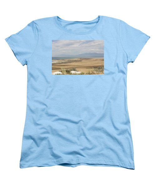Looking North From Antelope Island Women's T-Shirt (Standard Cut) by Belinda Greb