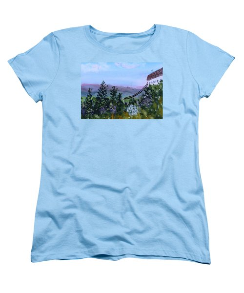 Looking Out From Top Of Jay Peak  Women's T-Shirt (Standard Cut) by Donna Walsh