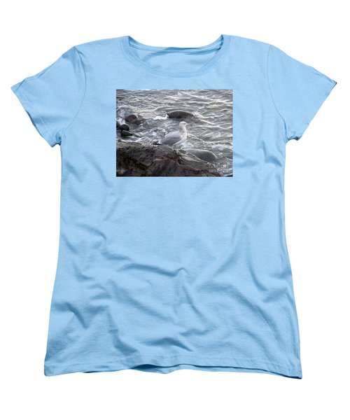 Looking Out To Sea Women's T-Shirt (Standard Cut) by Eunice Miller
