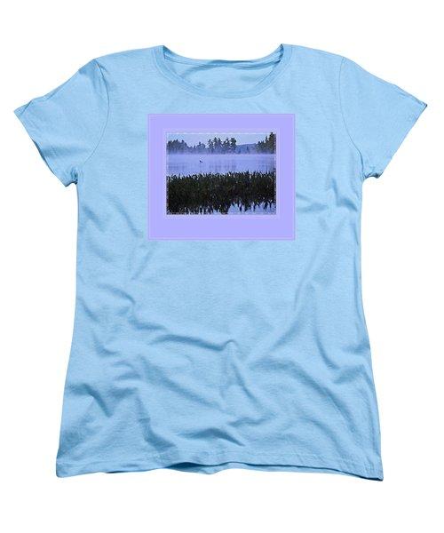 Loon On A Misty Morning At Parker Women's T-Shirt (Standard Cut) by Joy Nichols