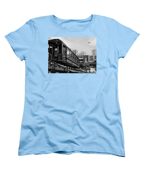 Los Angeles Angels Flight.bw Women's T-Shirt (Standard Cut) by Jennie Breeze
