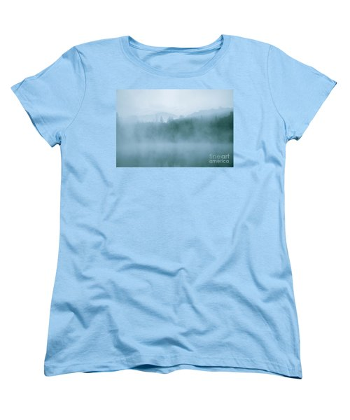 Lost In Fog Over Lake Women's T-Shirt (Standard Cut) by Jola Martysz