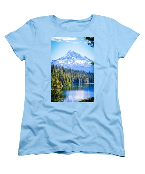 Lost Lake Morning Women's T-Shirt (Standard Cut) by Patricia Babbitt
