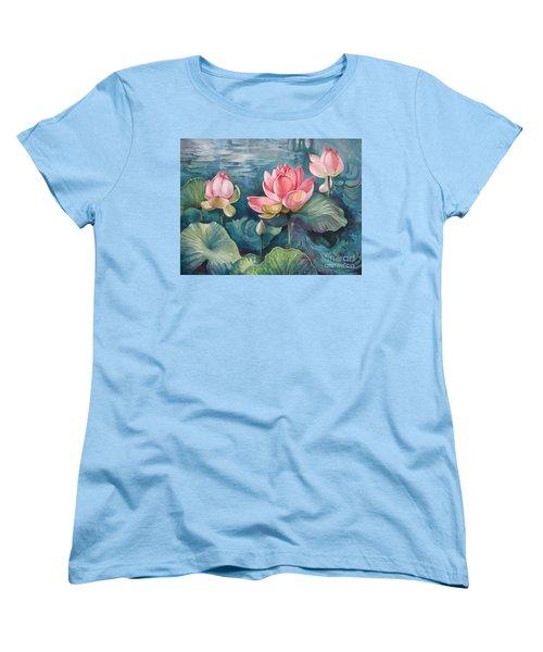 Lotus Pond Women's T-Shirt (Standard Cut)