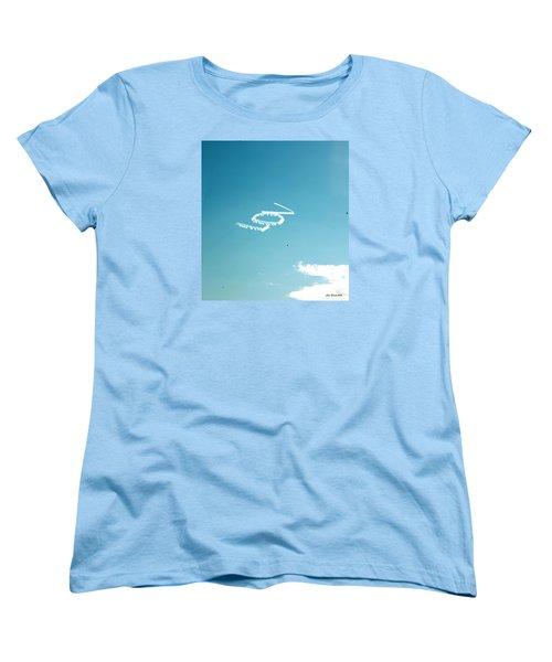 Lov In The Air  Women's T-Shirt (Standard Cut) by Lorna Maza