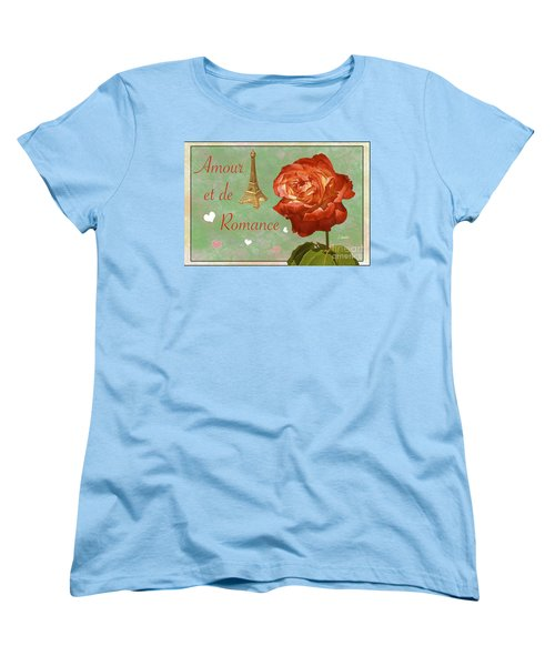 Love And Romance Women's T-Shirt (Standard Cut) by Claudia Ellis