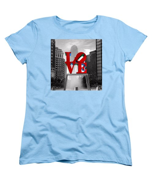 Love Is Always Black And White Square Women's T-Shirt (Standard Cut) by Paul Ward