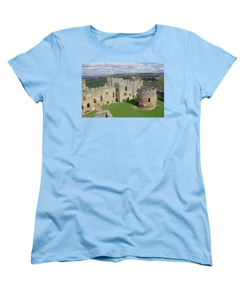 Ludlow Castle Chapel And Great Hall Women's T-Shirt (Standard Cut) by Tony Murtagh