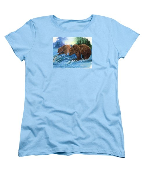 Women's T-Shirt (Standard Cut) featuring the painting Lunch Break by Sherry Shipley