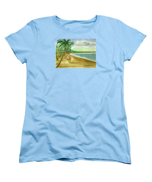 Luquillo Beach And El Yunque Puerto Rico Women's T-Shirt (Standard Cut) by Frank Hunter