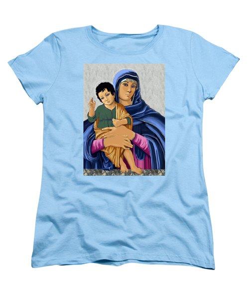 Madonna With Child Blessing Women's T-Shirt (Standard Cut) by Karon Melillo DeVega