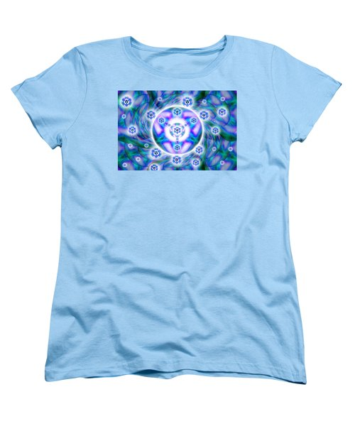 Women's T-Shirt (Standard Cut) featuring the drawing Magnetic Fluid Harmony by Derek Gedney