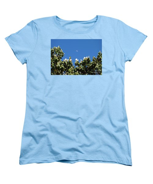 Women's T-Shirt (Standard Cut) featuring the photograph Magnolia Moon by Meghan at FireBonnet Art