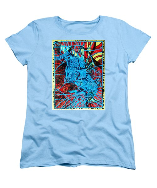 Maiden In Blue - Mary In The Temple Women's T-Shirt (Standard Cut) by Gloria Ssali