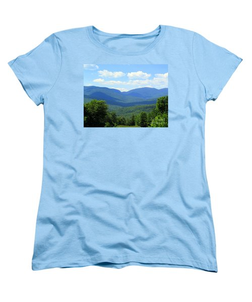 Majestic Mountains Women's T-Shirt (Standard Cut) by Elizabeth Dow