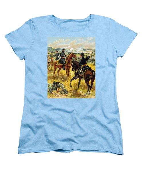 Major General George Meade At The Battle Of Gettysburg Women's T-Shirt (Standard Cut) by Henry Alexander Ogden