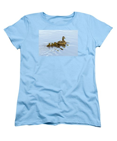 Mallard And Chicks  Women's T-Shirt (Standard Cut)