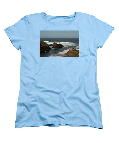 Women's T-Shirt (Standard Cut) featuring the photograph Man Fishing by Brian Williamson
