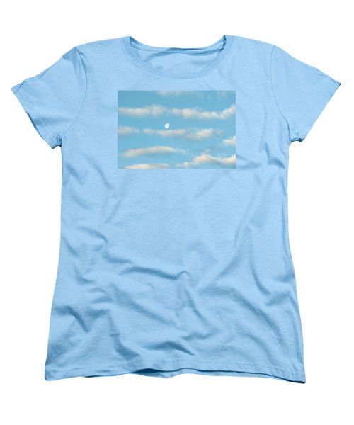 Women's T-Shirt (Standard Cut) featuring the photograph Man In The Moon In The Clouds by Fortunate Findings Shirley Dickerson