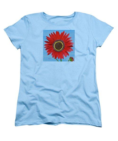 Mandy's Burgundy Beauty Women's T-Shirt (Standard Cut) by Donna  Manaraze