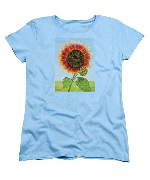 Mandy's Magnificent Sunflower Women's T-Shirt (Standard Cut) by Donna  Manaraze