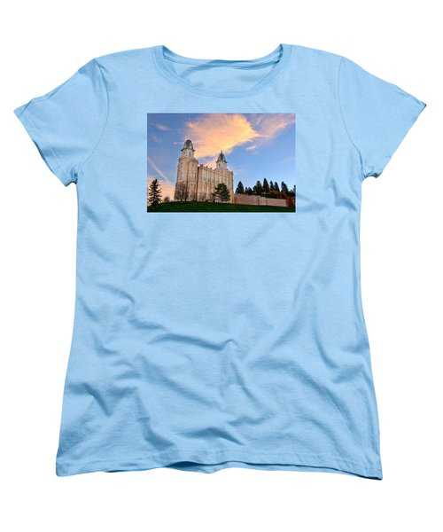 Manti Temple Morning Women's T-Shirt (Standard Cut) by David Andersen