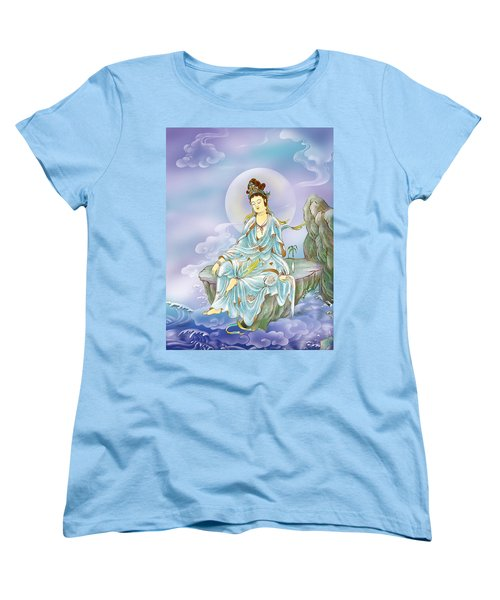 Many Treasures Avalokitesvara  Women's T-Shirt (Standard Cut) by Lanjee Chee