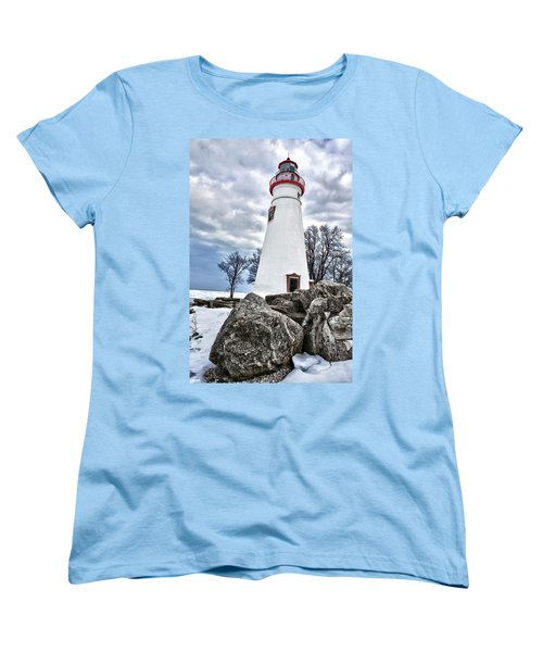 Marblehead Lighthouse Women's T-Shirt (Standard Cut) by Renee Sullivan