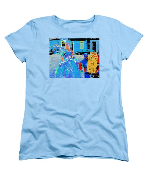 Women's T-Shirt (Standard Cut) featuring the photograph Mardi Gras New Orleans by Luana K Perez