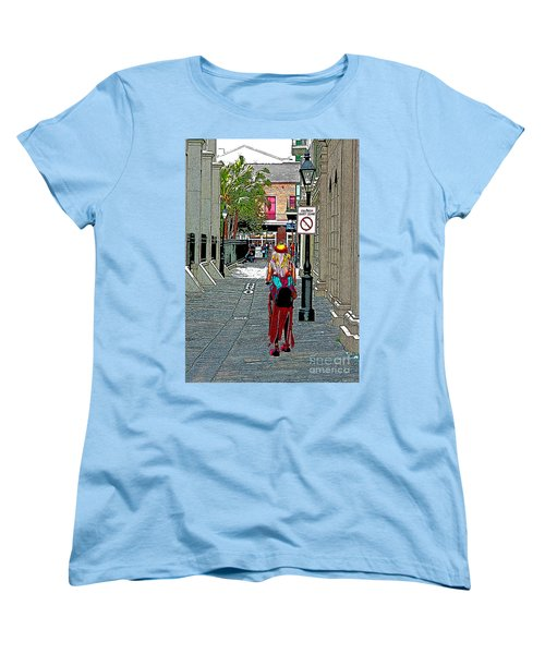 Mardi Gras In French Quarter Women's T-Shirt (Standard Cut) by Luana K Perez