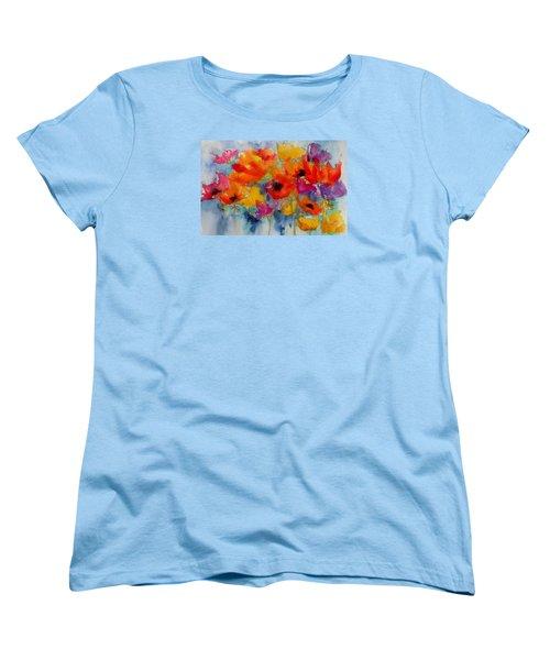 Women's T-Shirt (Standard Cut) featuring the painting Marianne's Garden by Anne Duke