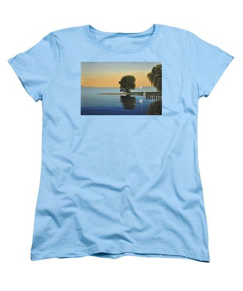 Marina Morning Women's T-Shirt (Standard Cut) by Kenneth M  Kirsch