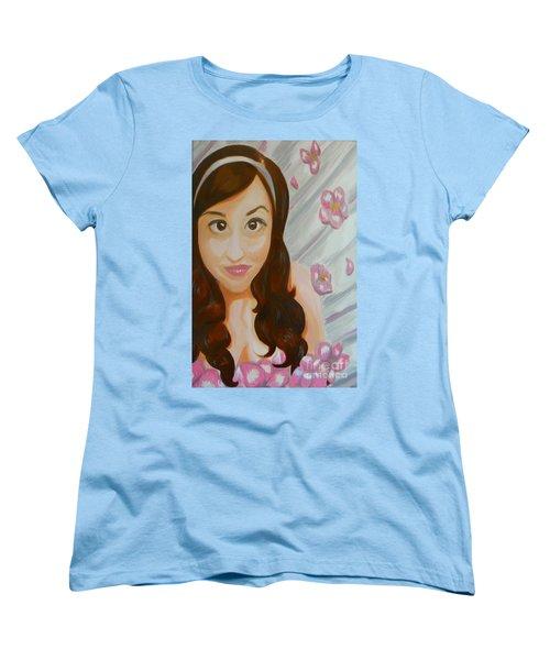 Women's T-Shirt (Standard Cut) featuring the painting Marisela by Marisela Mungia