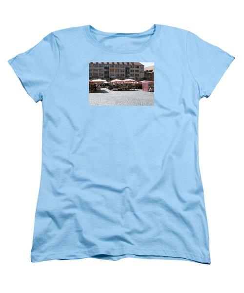 Women's T-Shirt (Standard Cut) featuring the photograph Markt Platz by Heidi Poulin