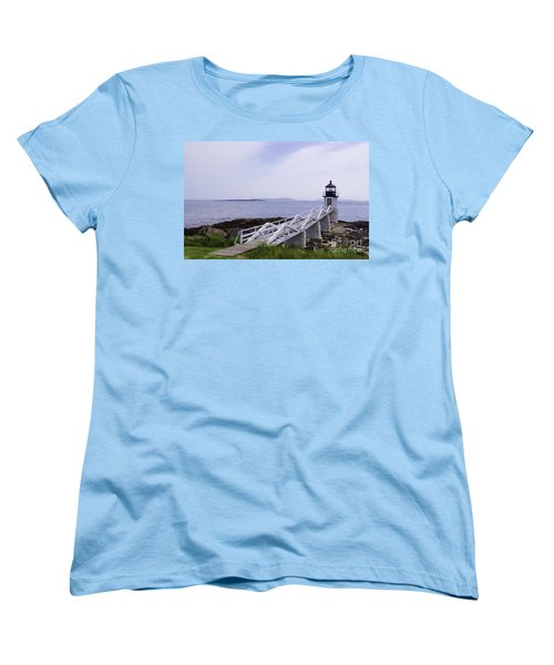 Marshall Point Light 1 Stylized Women's T-Shirt (Standard Cut) by Patrick Fennell