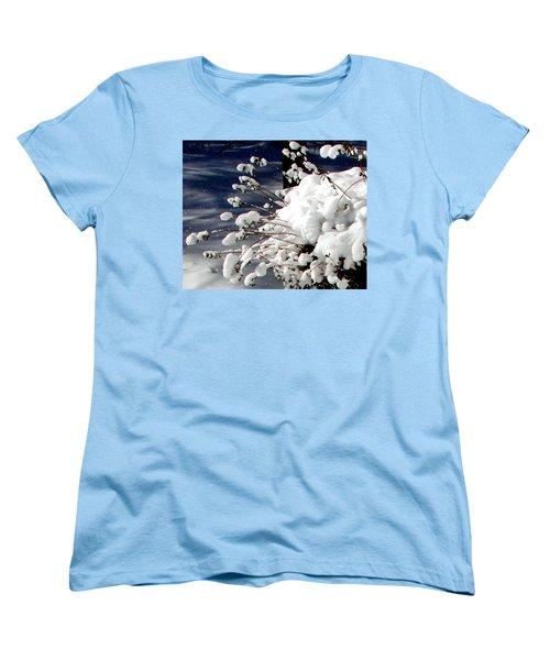 Marshmallow Sprouts Women's T-Shirt (Standard Cut) by Pamela Hyde Wilson