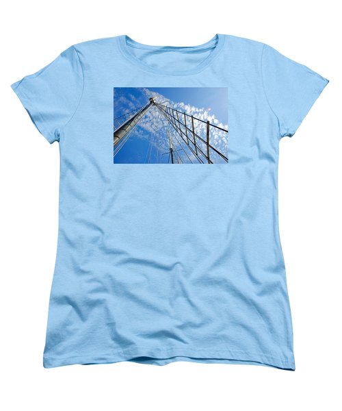 Masted Sky Women's T-Shirt (Standard Cut) by Keith Armstrong
